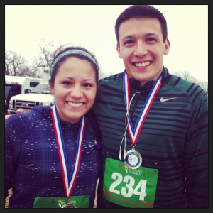Adrian & I at the Strides of March 5K in OKC